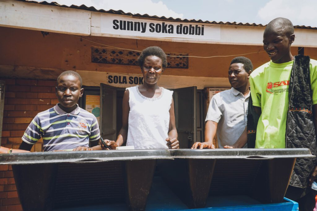 Some women are using them for private use, other are running a dobbi (laundry service) using more Solar Soakers